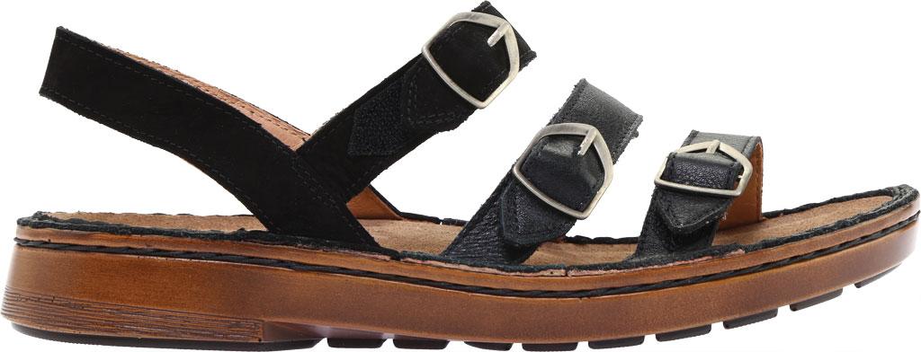 Women's Naot Lamego Strappy Sandal, Soft Black Leather, large, image 2