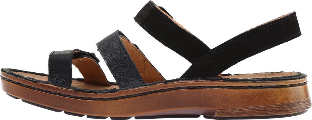 Women's Naot Lamego Strappy Sandal, Soft Black Leather, large, image 3