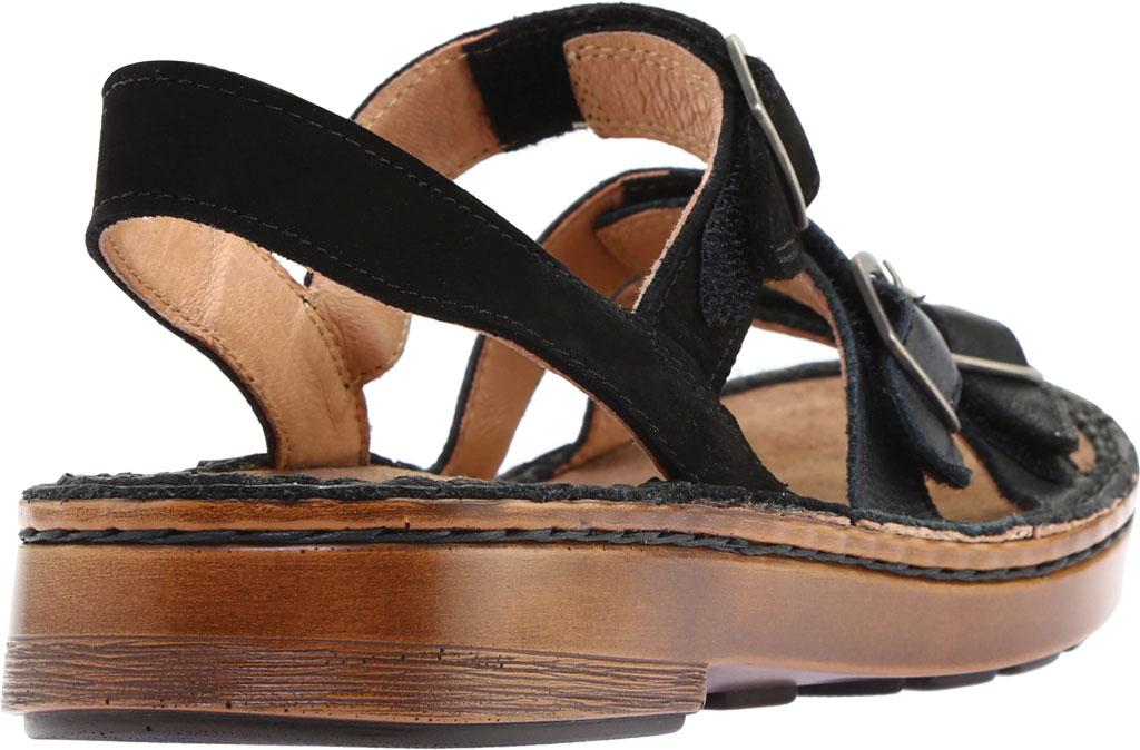Women's Naot Lamego Strappy Sandal, Soft Black Leather, large, image 4