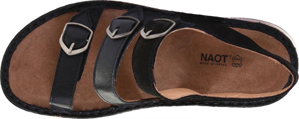 Women's Naot Lamego Strappy Sandal, Soft Black Leather, large, image 5