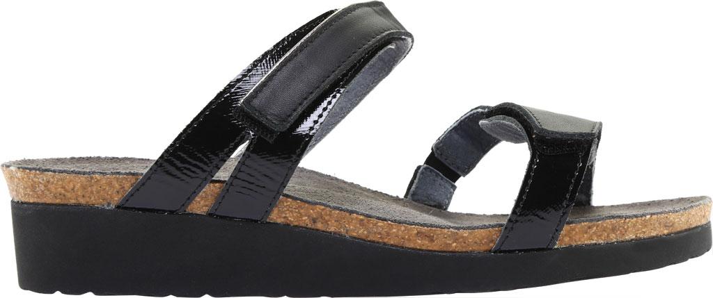 Women's Naot Presley Wedge Slide, Jet Black/Black Luster Leather, large, image 2