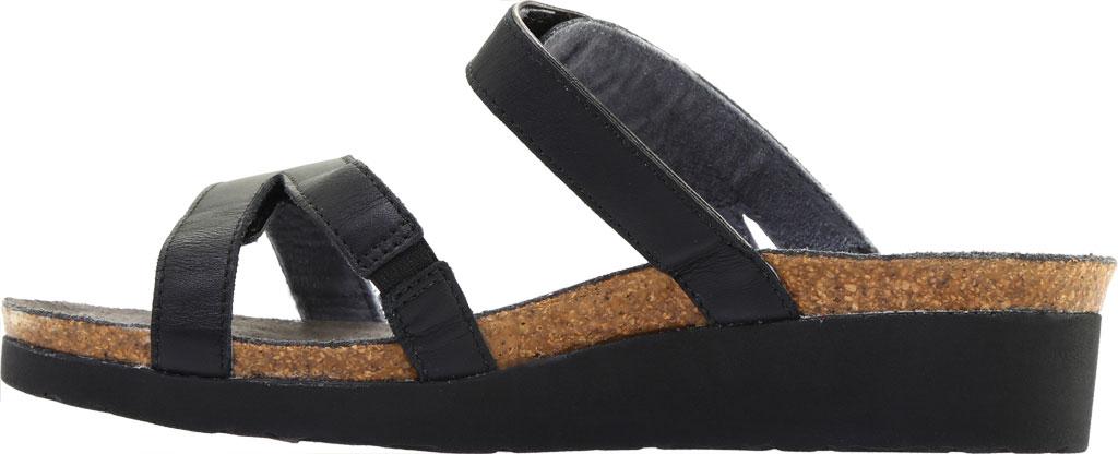 Women's Naot Presley Wedge Slide, Jet Black/Black Luster Leather, large, image 3