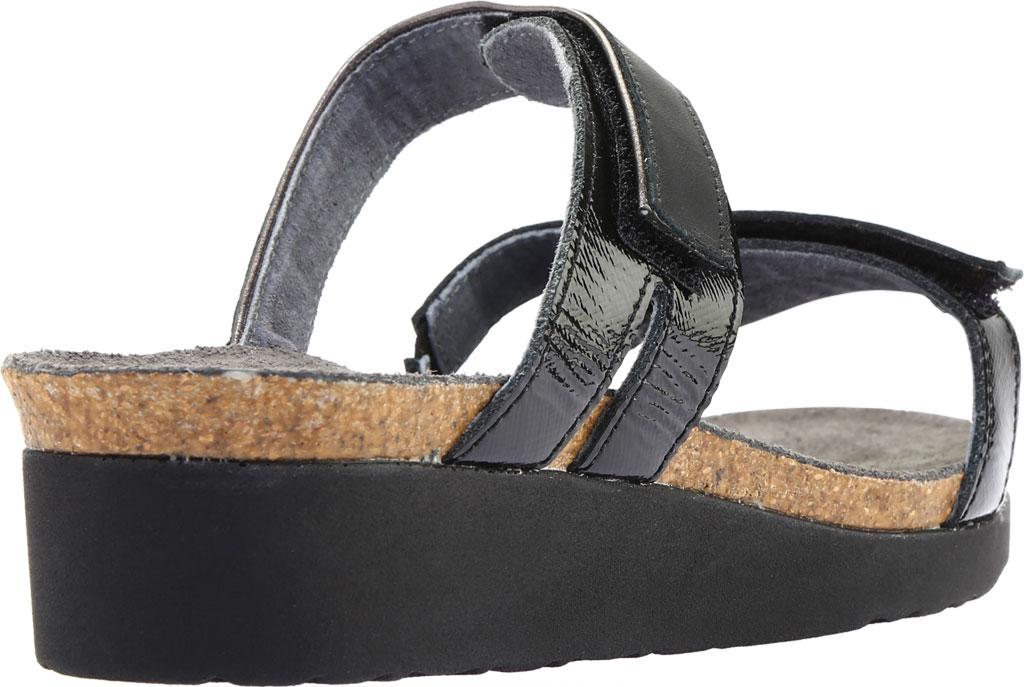 Women's Naot Presley Wedge Slide, Jet Black/Black Luster Leather, large, image 4