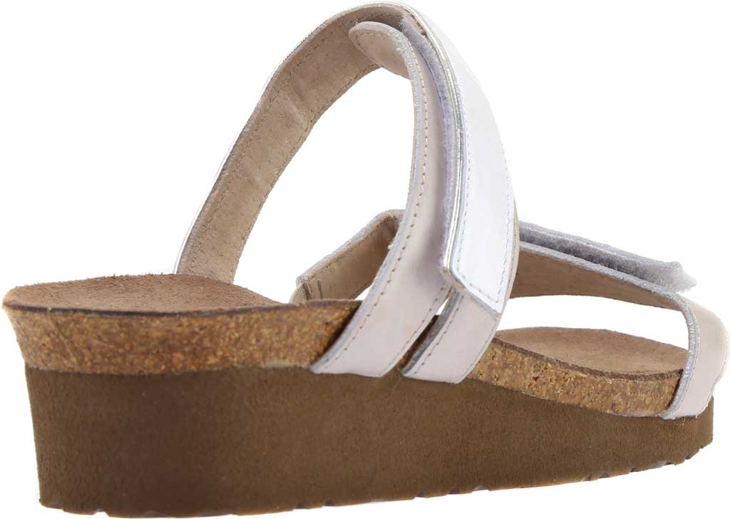 Women's Naot Presley Wedge Slide, White Pearl Leather/Quartz Leather, large, image 4