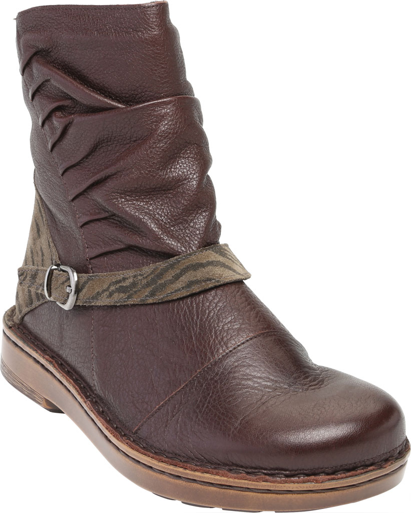 Women's Naot Lorca Ankle Bootie, Soft Brown/Safari Olive Suede/Leather, large, image 1