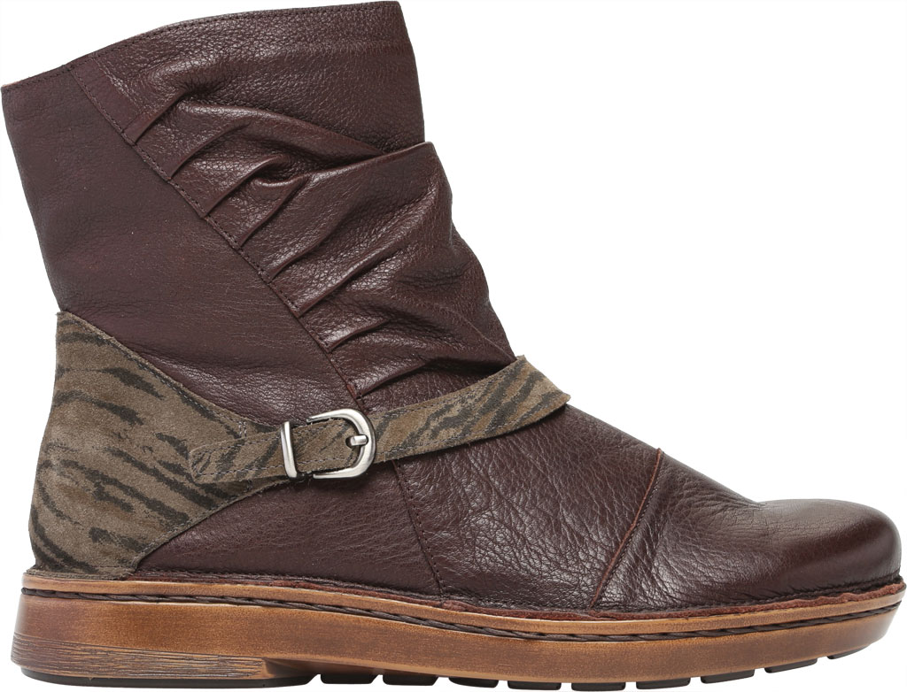 Women's Naot Lorca Ankle Bootie, Soft Brown/Safari Olive Suede/Leather, large, image 2