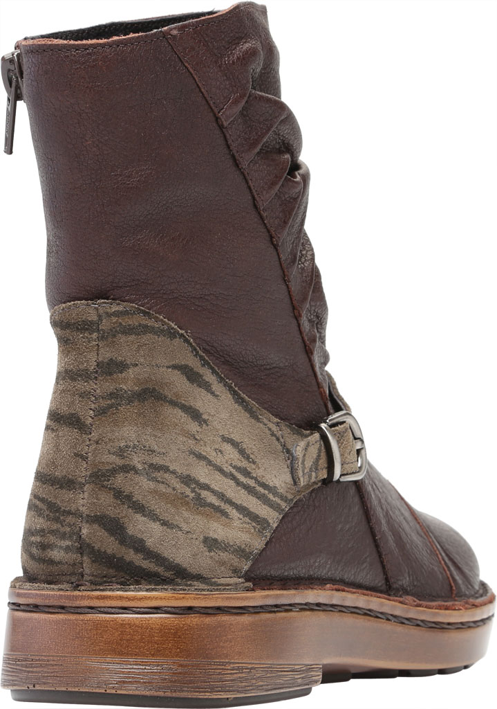 Women's Naot Lorca Ankle Bootie, Soft Brown/Safari Olive Suede/Leather, large, image 4