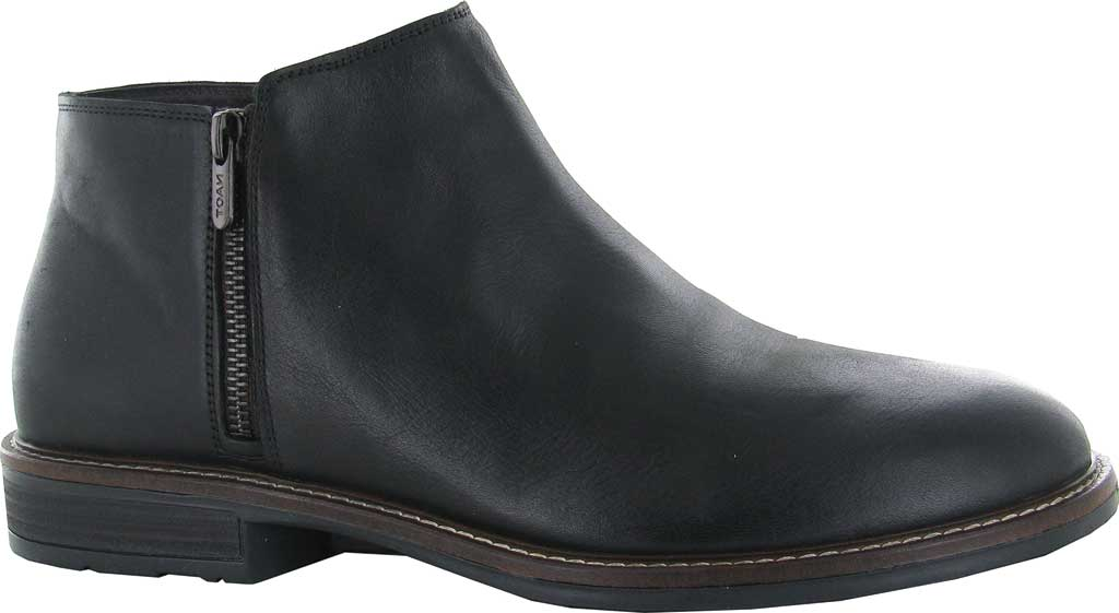 Men's Naot General Ankle Boot, Water Resistant Black Leather, large, image 1