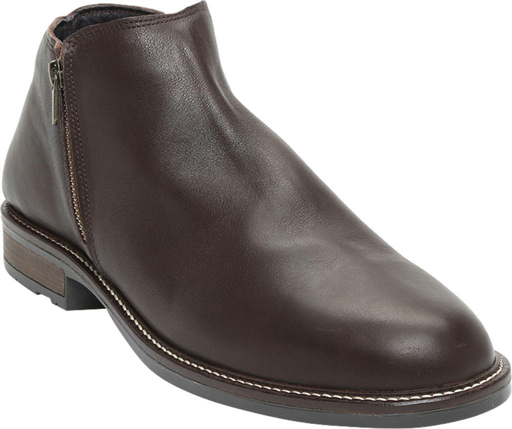 Men's Naot General Ankle Boot, Water Resistant Brown Leather, large, image 1