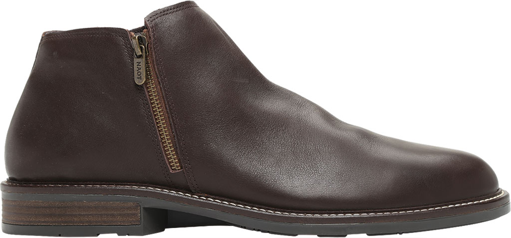 Men's Naot General Ankle Boot, Water Resistant Brown Leather, large, image 2