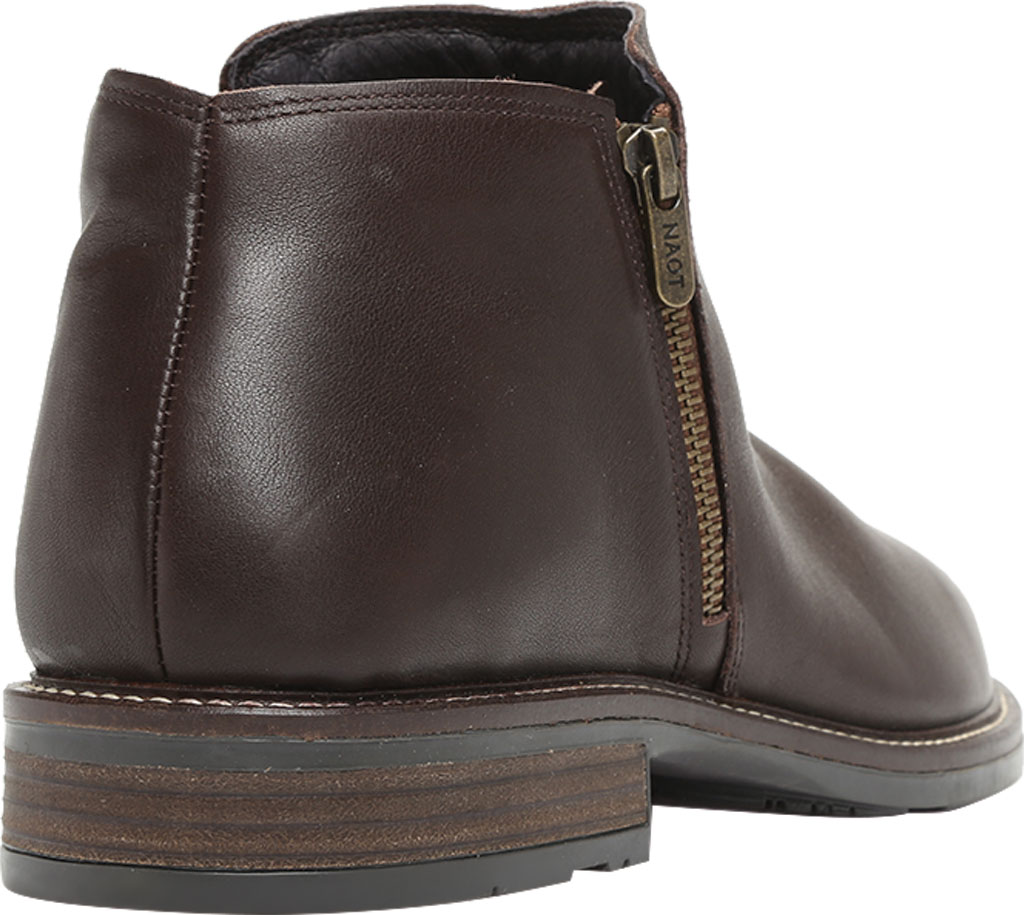 Men's Naot General Ankle Boot, Water Resistant Brown Leather, large, image 4
