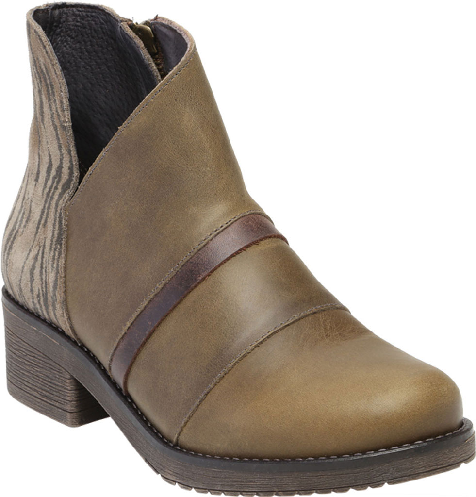 Women's Naot Emerald Ankle Bootie, Vintage Pine/Olive/Crazy Horse Suede/Leather, large, image 1