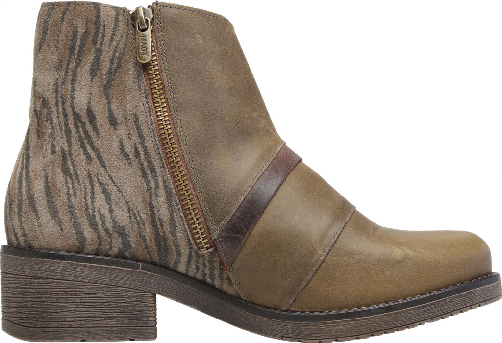 Women's Naot Emerald Ankle Bootie, Vintage Pine/Olive/Crazy Horse Suede/Leather, large, image 2
