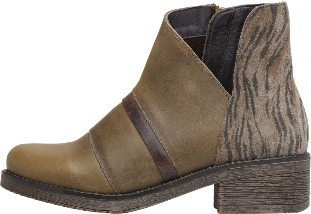 Women's Naot Emerald Ankle Bootie, Vintage Pine/Olive/Crazy Horse Suede/Leather, large, image 3