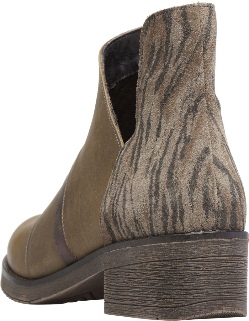 Women's Naot Emerald Ankle Bootie, Vintage Pine/Olive/Crazy Horse Suede/Leather, large, image 4