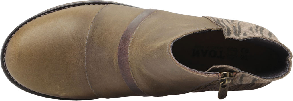 Women's Naot Emerald Ankle Bootie, Vintage Pine/Olive/Crazy Horse Suede/Leather, large, image 5