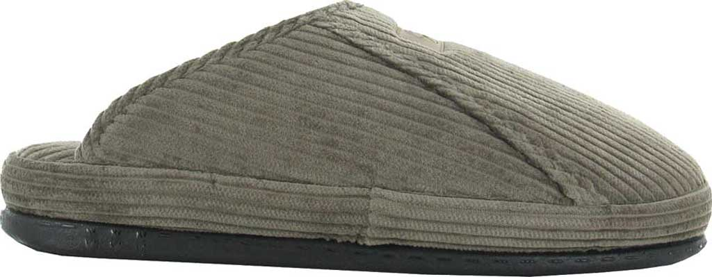 Men's Naot Laze - Loveseats Corduroy Scuff Slipper, Dark Gray Corduroy/Woven Cotton, large, image 1