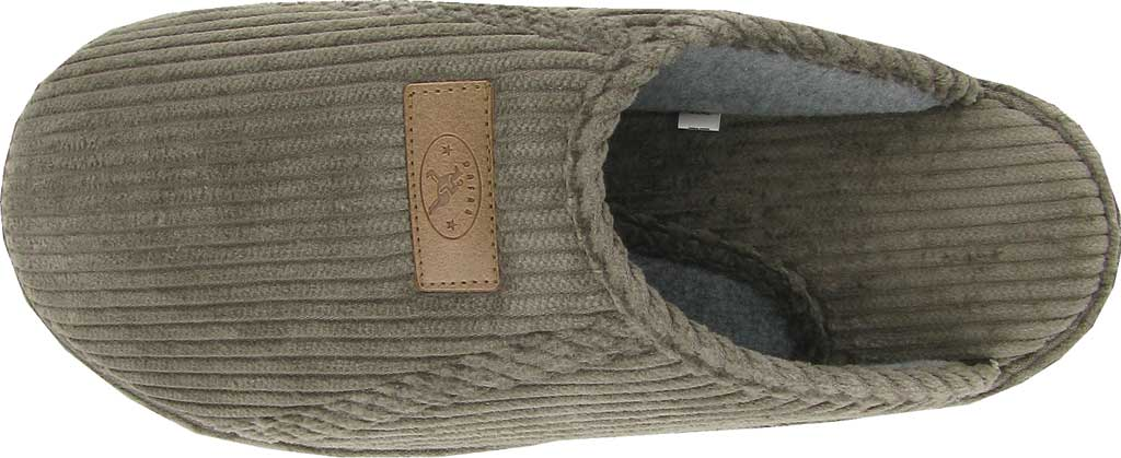 Men's Naot Laze - Loveseats Corduroy Scuff Slipper, Dark Gray Corduroy/Woven Cotton, large, image 2