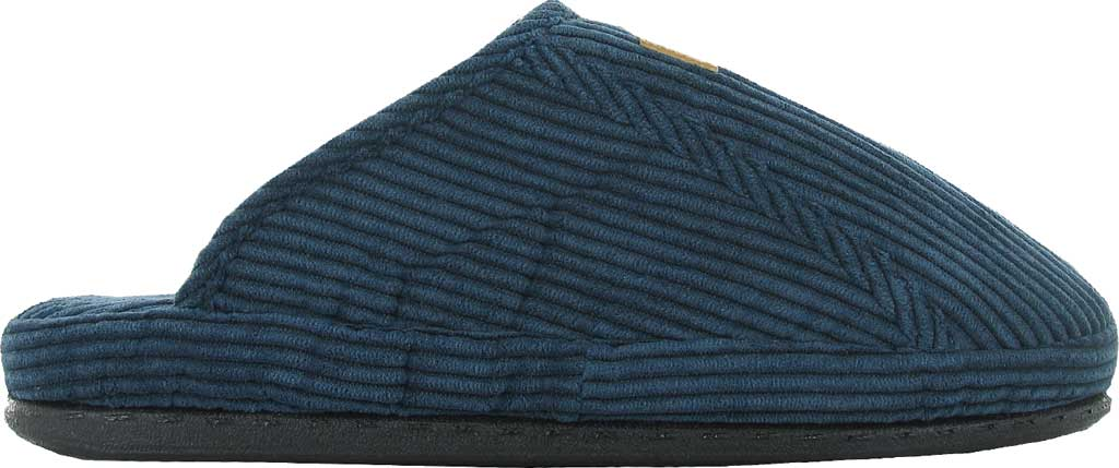 Men's Naot Laze - Loveseats Corduroy Scuff Slipper, Navy Corduroy/Woven Cotton, large, image 1