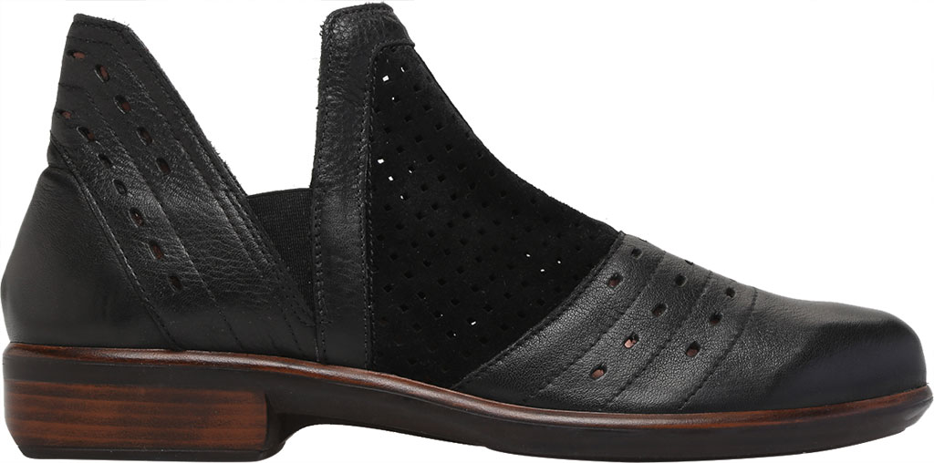 Women's Naot Rivotra Ankle Boot, Black/Soft Black/Brown/Black Velvet Suede/Leather, large, image 2