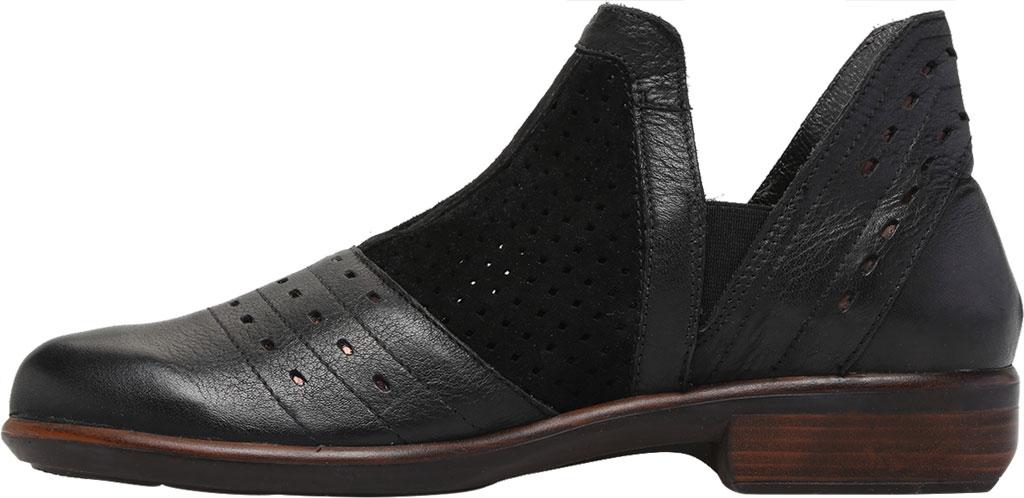 Women's Naot Rivotra Ankle Boot, Black/Soft Black/Brown/Black Velvet Suede/Leather, large, image 3