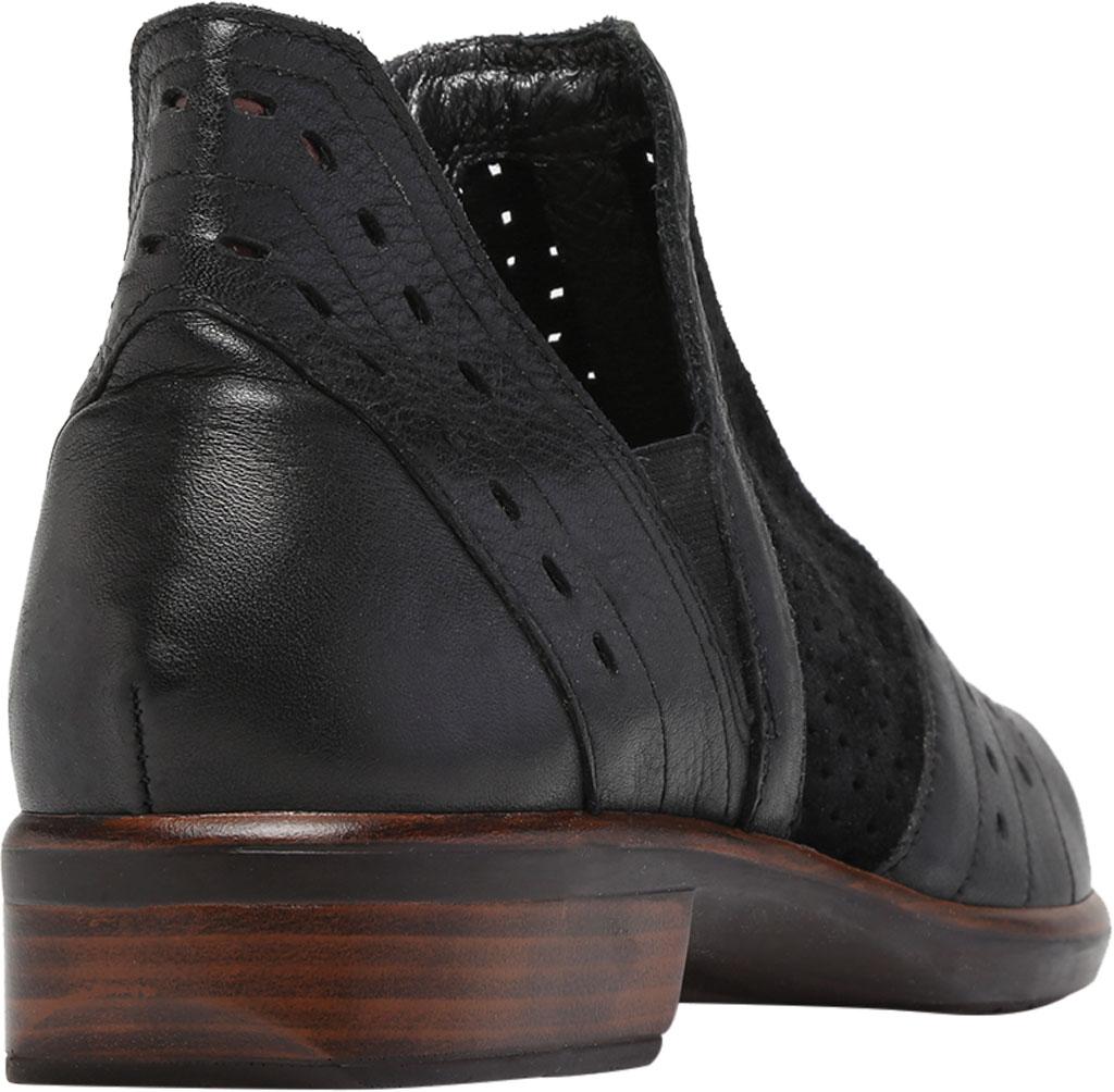 Women's Naot Rivotra Ankle Boot, Black/Soft Black/Brown/Black Velvet Suede/Leather, large, image 4