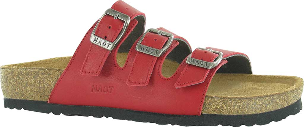 Women's Naot Austin Strappy Slide, Kiss Red Leather, large, image 1