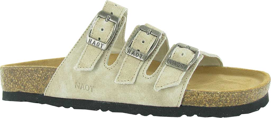 Women's Naot Austin Strappy Slide, Sand Stone Suede, large, image 1