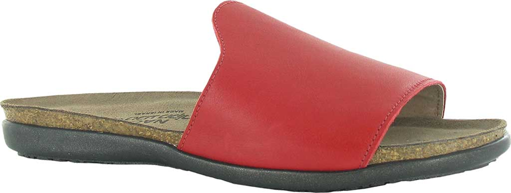 Women's Naot Skylar Flat Slide, Kiss Red Leather, large, image 1