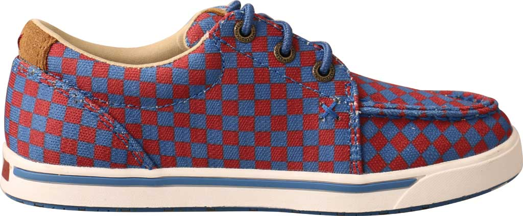 Children's Twisted X YCA0006 Kicks Moc Toe Sneaker, Red/Blue Recycled Fabric, large, image 2