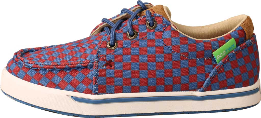 Children's Twisted X YCA0006 Kicks Moc Toe Sneaker, Red/Blue Recycled Fabric, large, image 3
