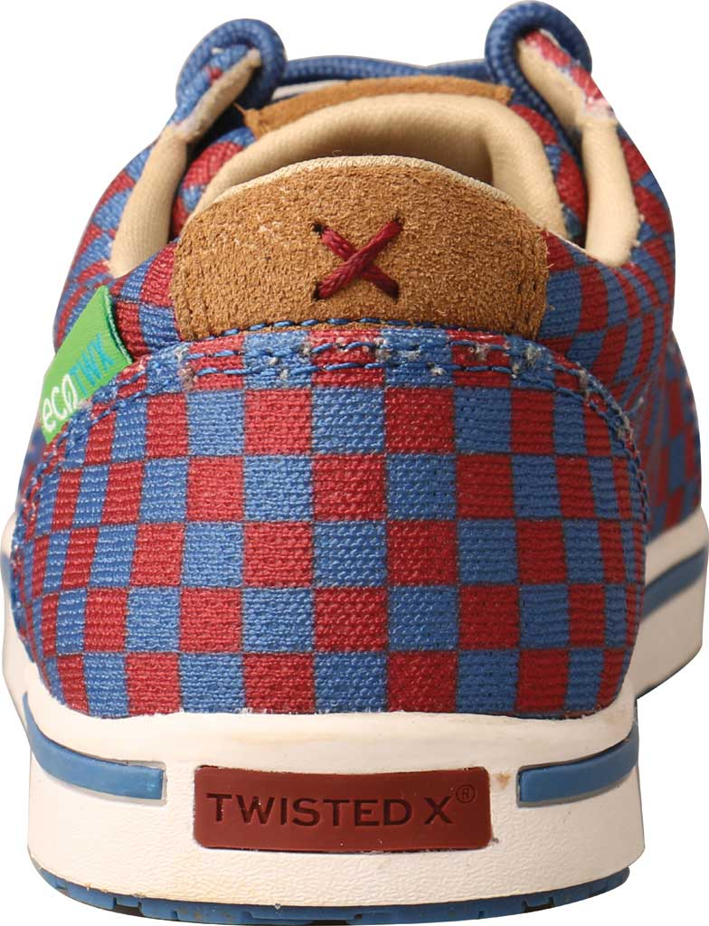 Children's Twisted X YCA0006 Kicks Moc Toe Sneaker, Red/Blue Recycled Fabric, large, image 4