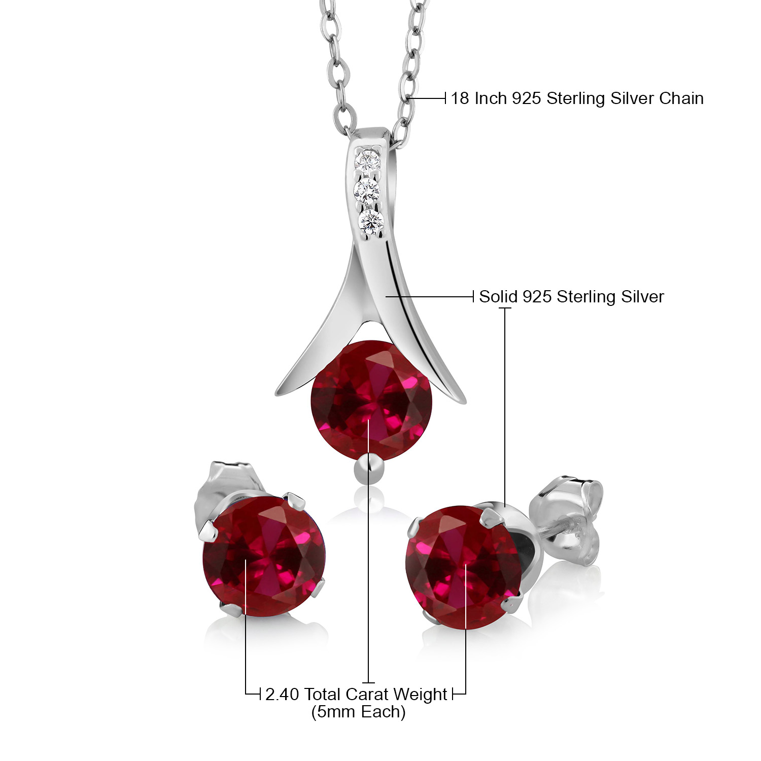 ALARRI 0.87 Carat 14K Solid White Gold Bouquet Garnet Citrine Peridot Necklace with 22 Inch Chain Length
