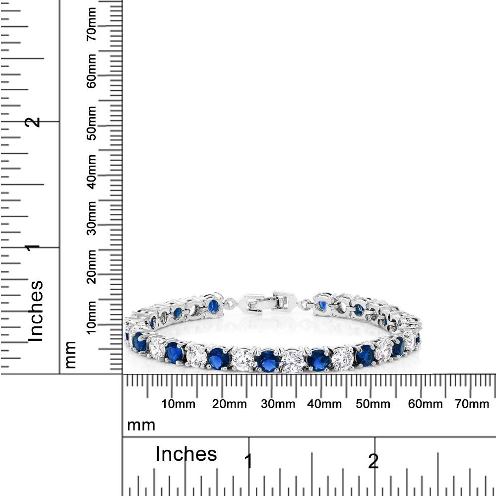 environ 17.78 cm 15.00 CT RONDE MULTICOLORE CUBIC ZIRCONS CZ Tennis Bracelet 7 in