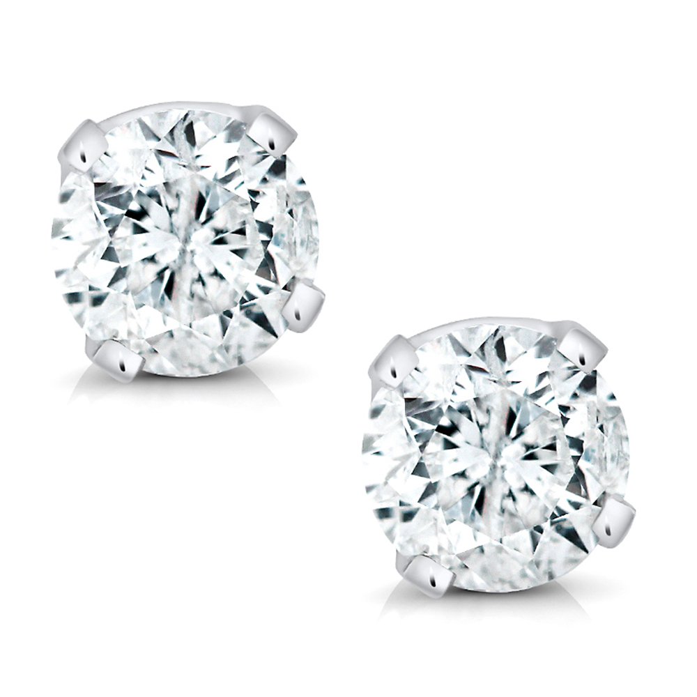 solid diamond gold stud diamonds ct white earrings natural htm w with carat p