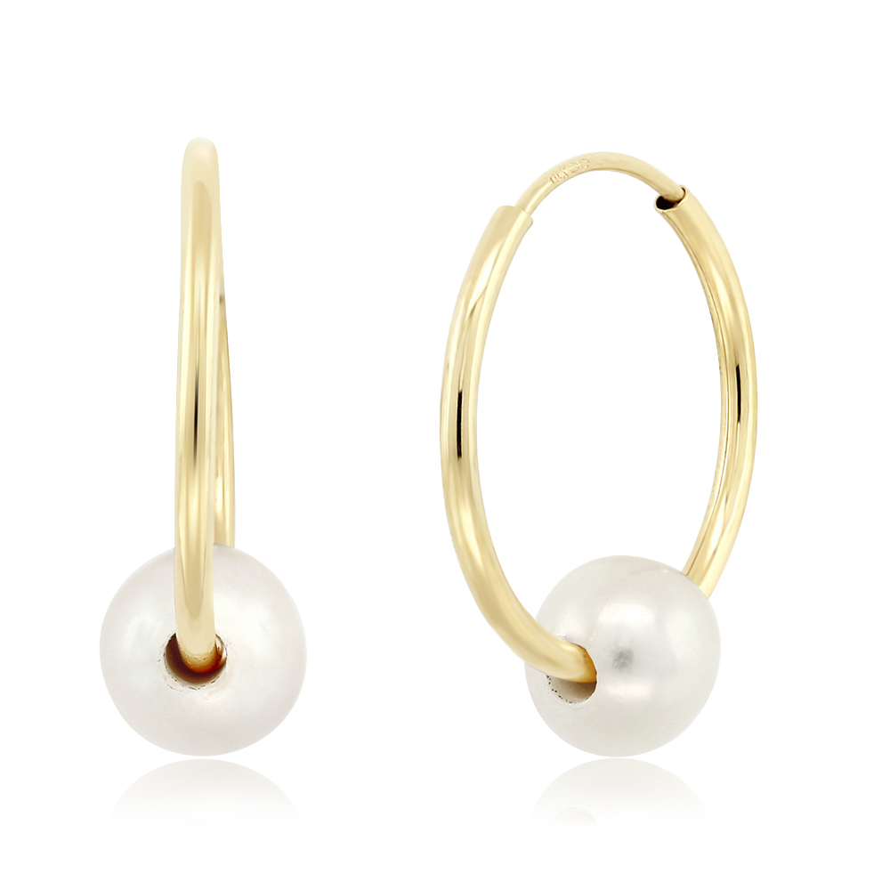 Solid-14K-Gold-Hoop-Earrings-With-White-Cultured-Freshwater-Pearls-5-6MM