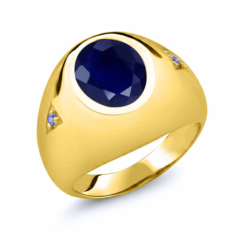 mens inlaid cut princess tanzanite img ring item featured george with diamonds