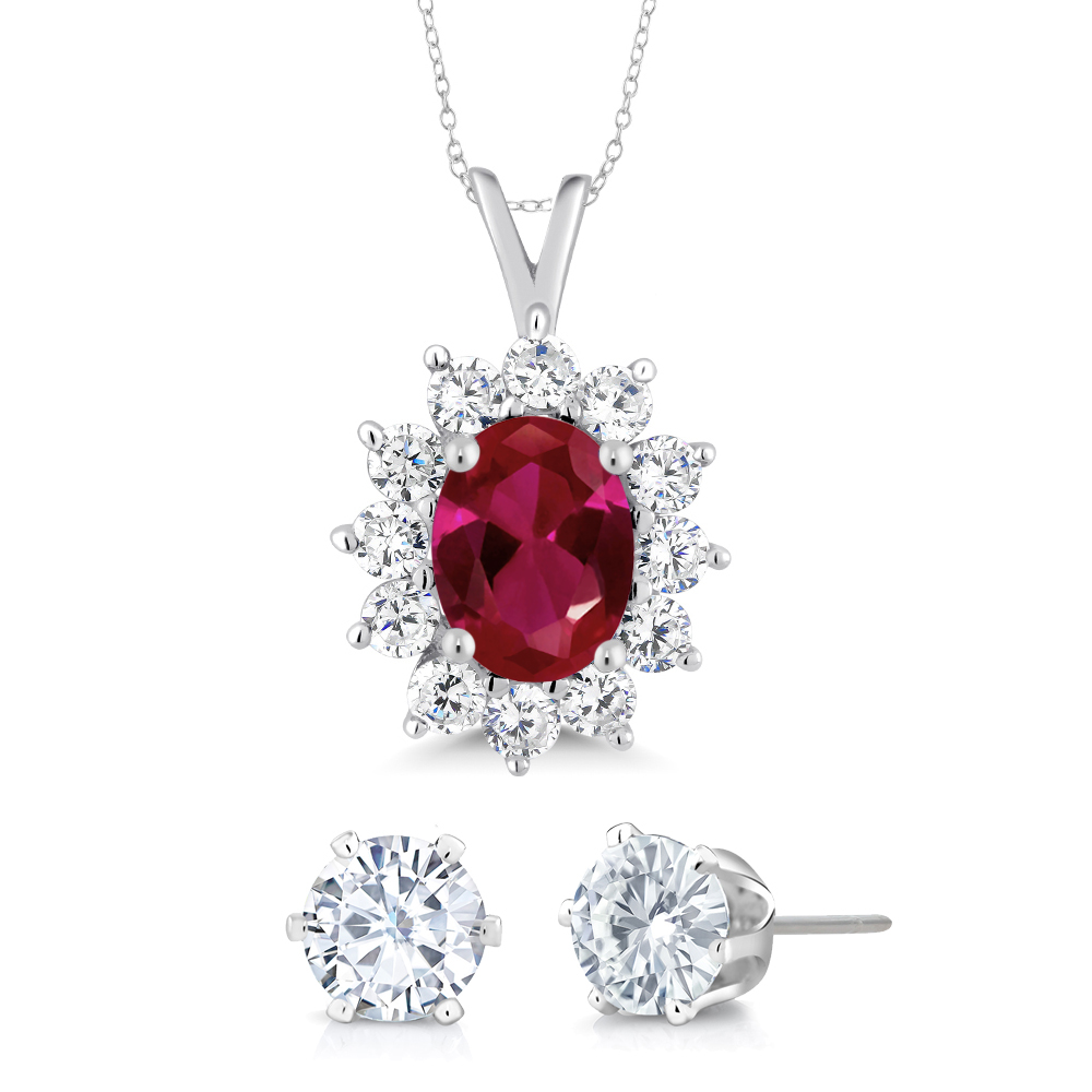 202 ct oval red created ruby 925 sterling silver pendant with gift 202 ct oval red created ruby 925 sterling silver pendant with gift aloadofball Gallery