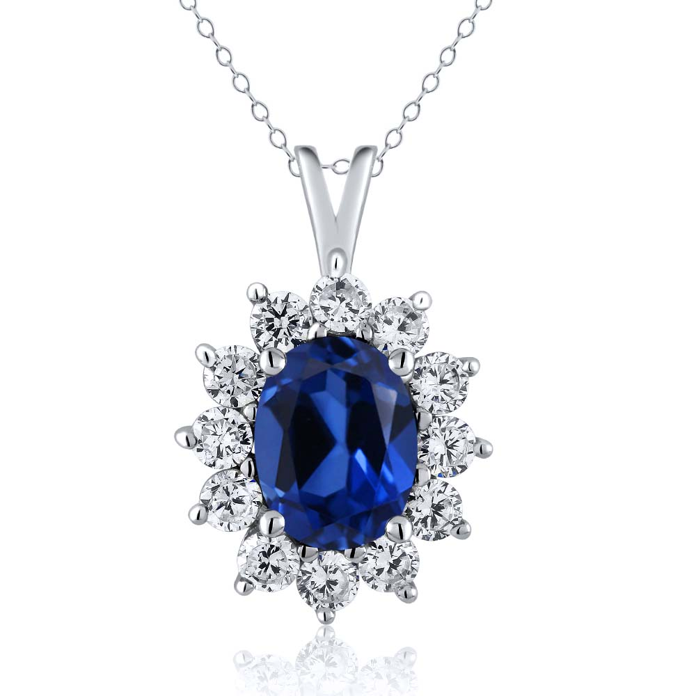 5.24 Ct Oval Simulated Sapphire 925 Sterling Silver ...