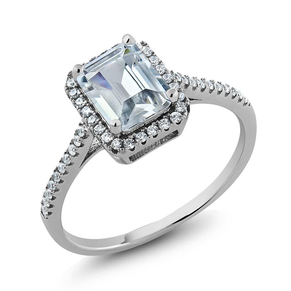 Emerald Cut Cz Sterling Silver Rings