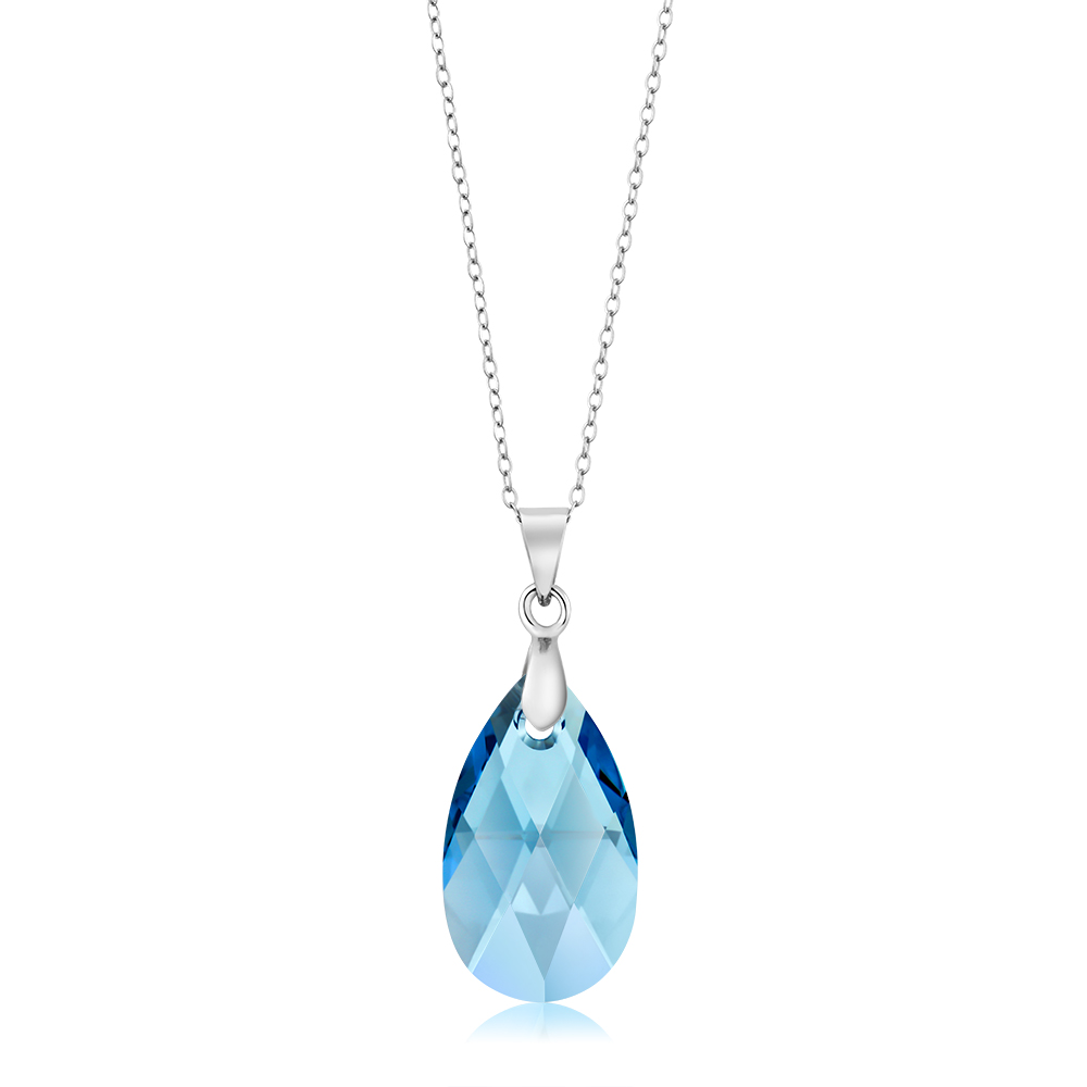 diamante pendant image drop tear stunning store large crystal in swarovski l swarov
