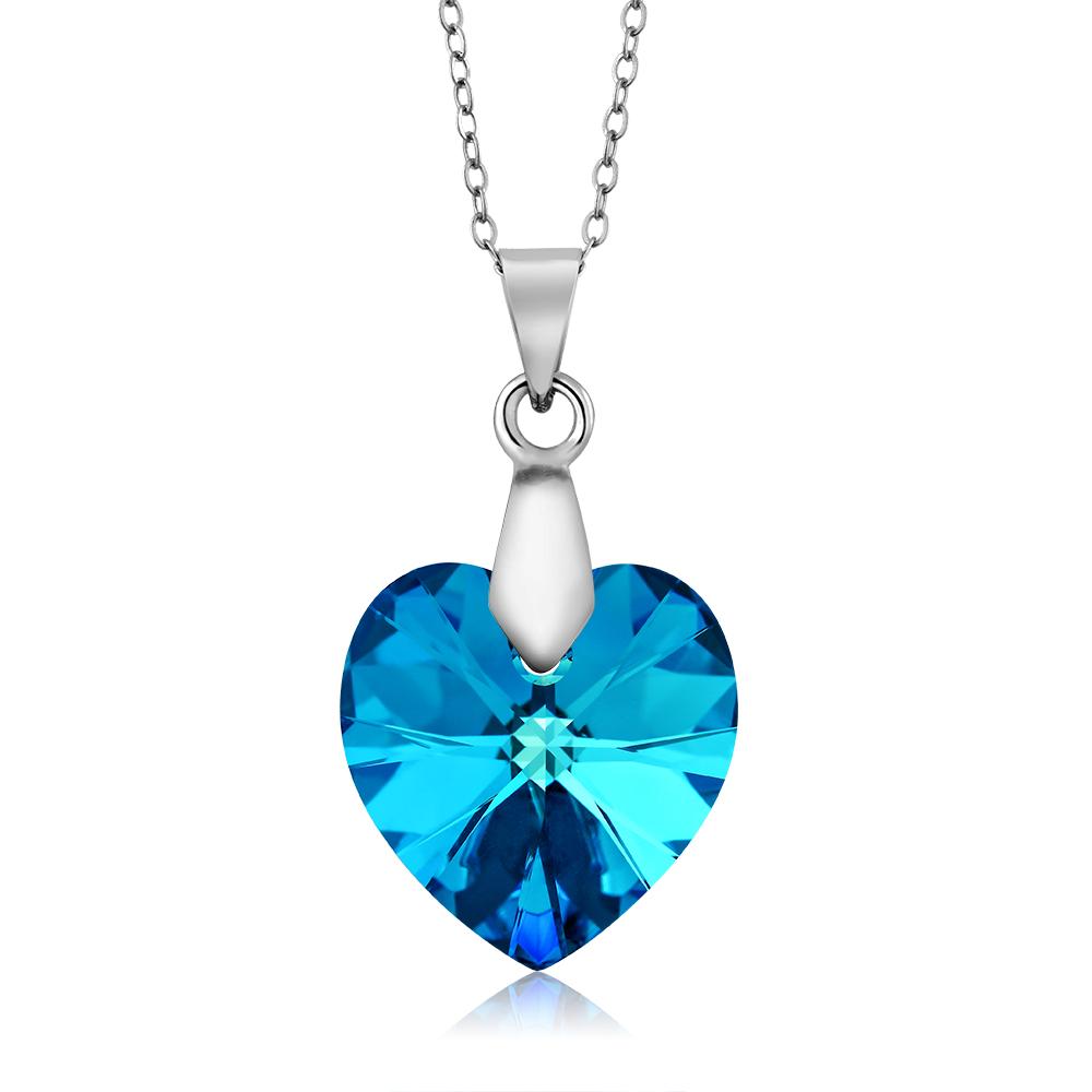Nirano collection bermuda blue heart pendant made with swarovski nirano collection bermuda blue heart pendant made with swarovski crystals aloadofball Images