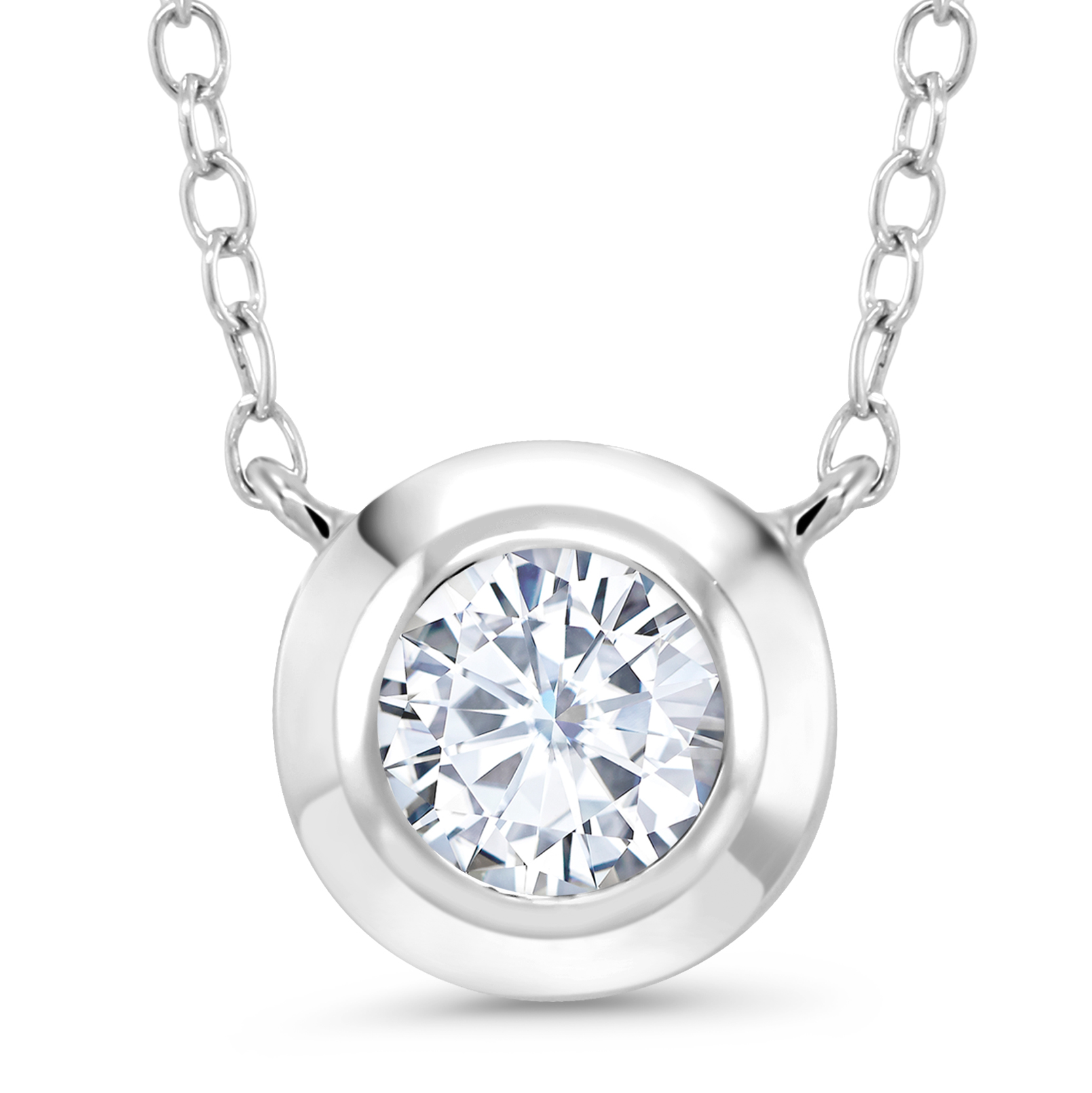 diamond necklaces round rings diamonds world loose moissanite sterling center necklace double ct simulated jewelry stones halo silver pendent earrings collections bail cubic setting in best pendants the veneer