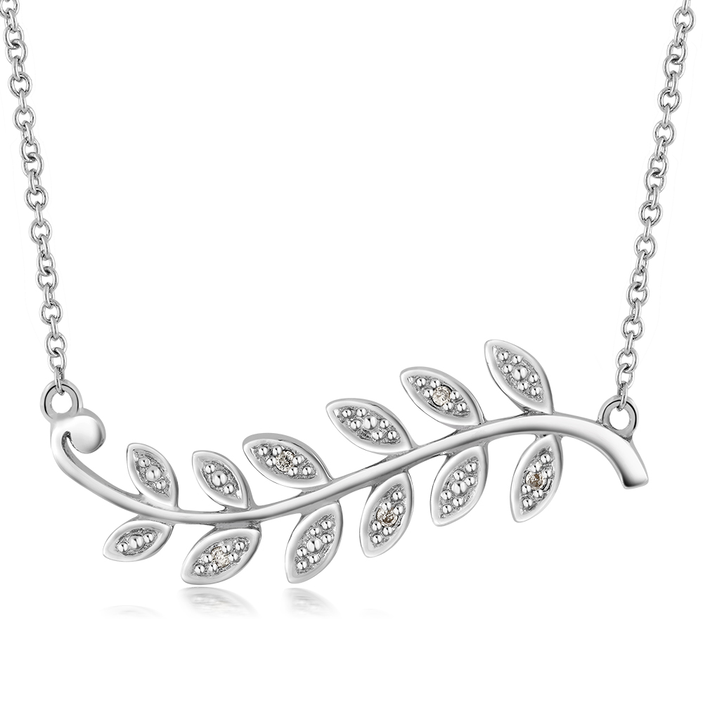 silver leaf branch platinum products mercedes necklace shaffer pendant olive olivebranchleafpendantnecklace sgm