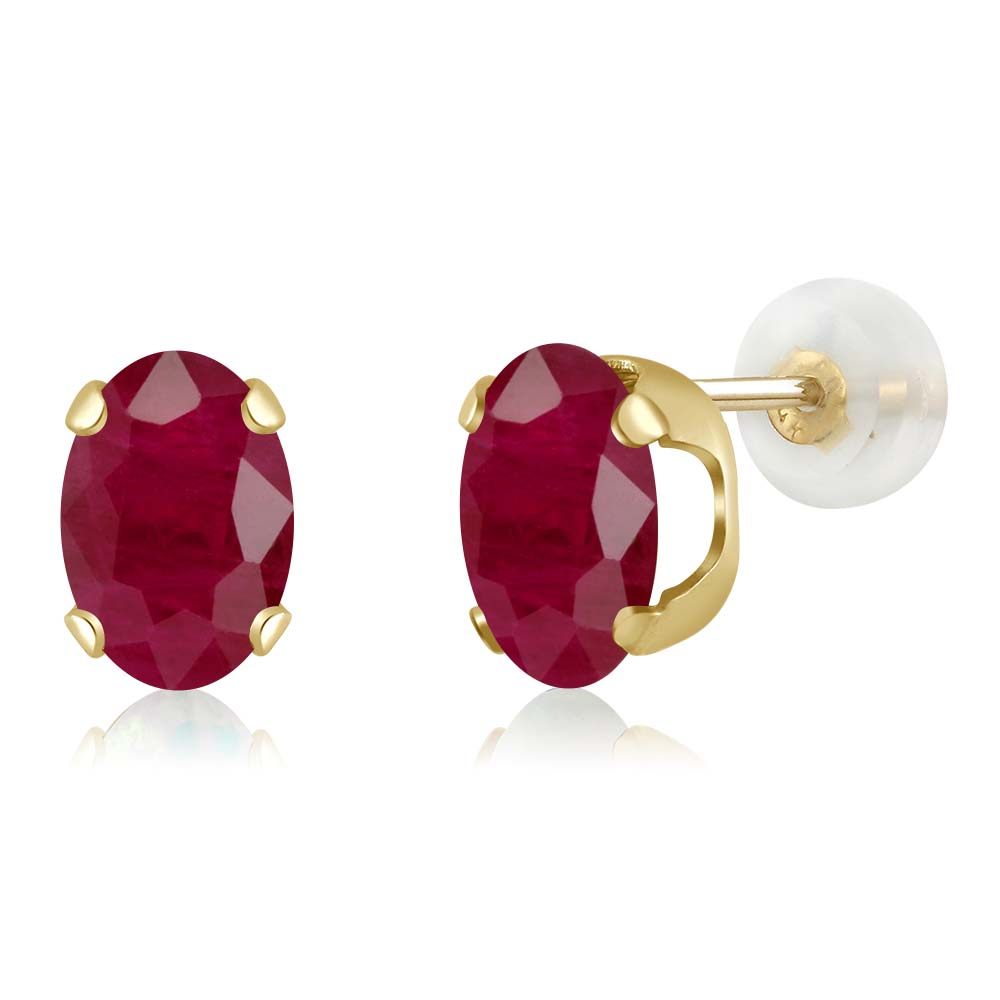 gem round shop king plated gold stud red product wrc rd ct rpss rose silver stone earrings r rakuten ruby