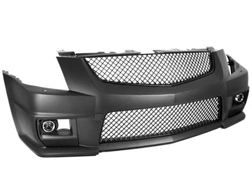 2008 2012 Cadillac Cts V Conversion Front Bumper W Black