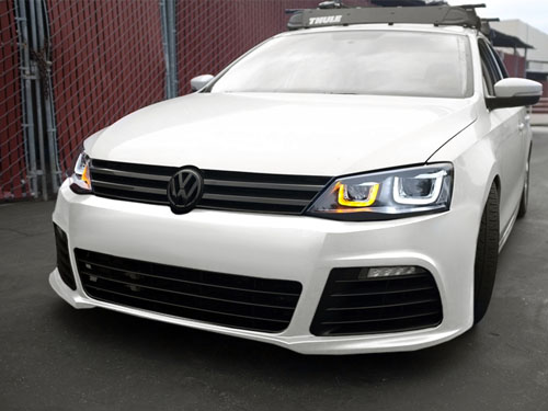 10-17 VW Jetta MK6 Sedan R Style Front Bumper Conversion ...