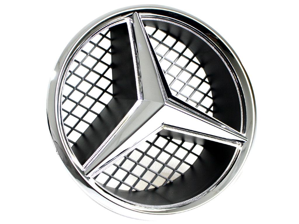 illuminated mercedes benz emblem badge snap in ebay. Black Bedroom Furniture Sets. Home Design Ideas