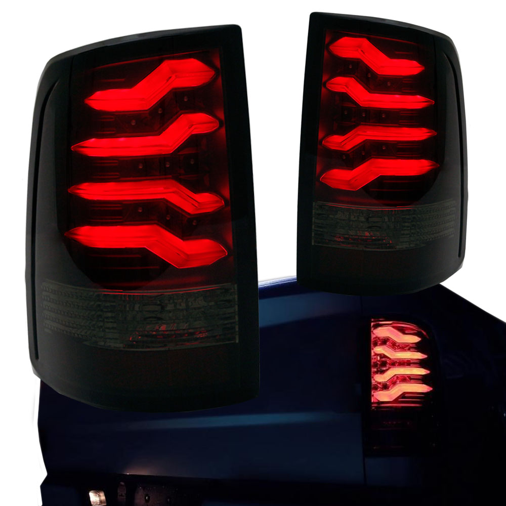 2009-2017 Dodge Ram 1500 2500 3500 Black LED Taillights w// Light Tube
