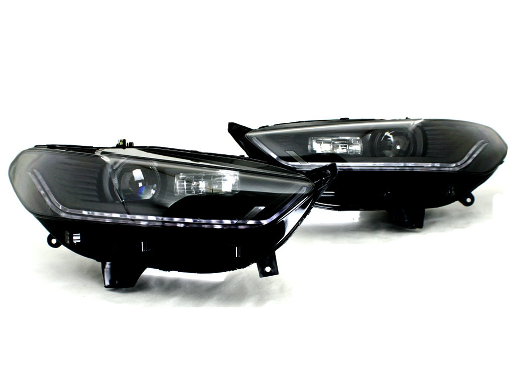 2013 2015 Ford Fusion Mondeo Black Bi Projector Headlight